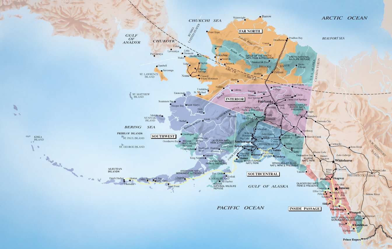 ALASKA mapa